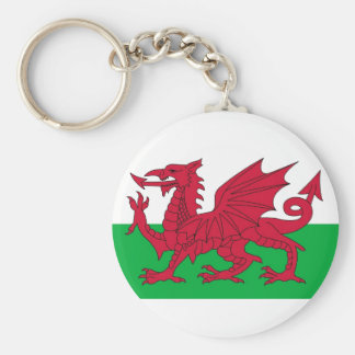Porte - clé avec le drapeau du Pays de Galles Porte-clé Rond
