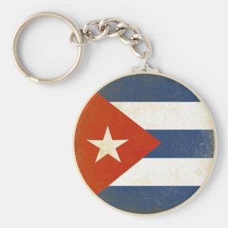 Porte - clé avec le drapeau vintage affligé du porte-clé rond