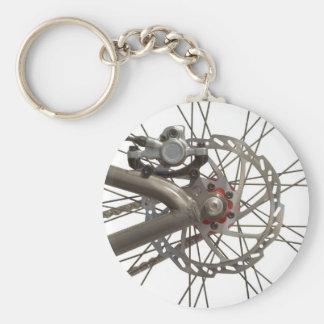 Porte - clé avec le moyeu de roue de vélo porte-clé rond