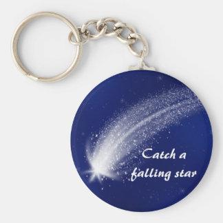 Porte - clé bleu #1 d'étoile filante porte-clés