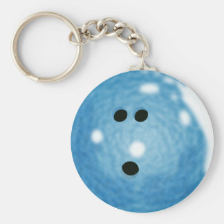 Porte - clé bleu de boule de bowling de Smokey Porte-clés