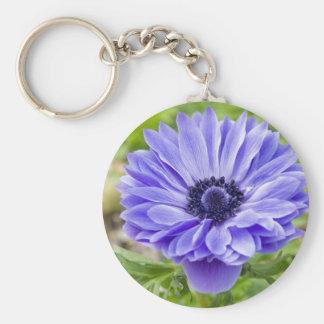 Porte - clé bleu de fleur d'aster porte-clés