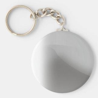 Porte - clé brillant métallique porte-clé rond