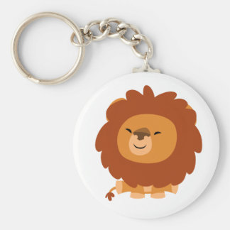 Porte - clé câlin mignon de lion de bande dessinée porte-clé rond