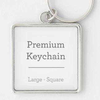 Porte - clé carré de coutume porte-clé carré argenté