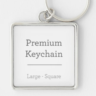 Porte - clé carré de coutume porte-clés