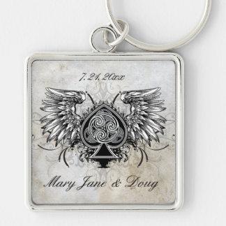 Porte - clé celtique à ailes urbain de noeud de porte-clés