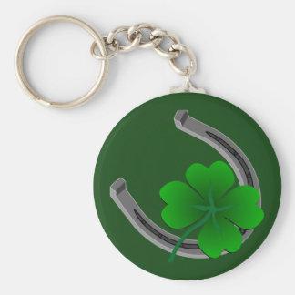 Porte - clé chanceux 4 cadeaux chanceux de porte - porte-clé rond