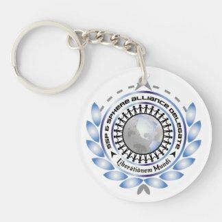 Porte - clé circulaire de logo avec le dos porte-clé rond en acrylique double face