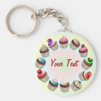 Porte - clé coloré de cercle de petits gâteaux porte-clé rond