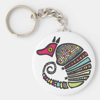 Porte - clé coloré de tatou porte-clés