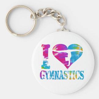Porte - clé d'acclamation de danse de gymnastique porte-clé rond