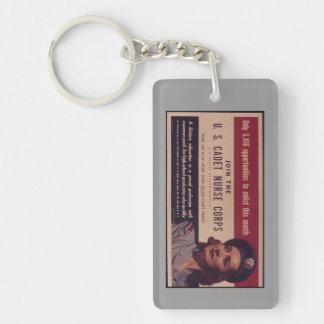 Porte - clé d'affiche de recrutement d'USCNC Porte-clé Rectangulaire En Acrylique Une Face