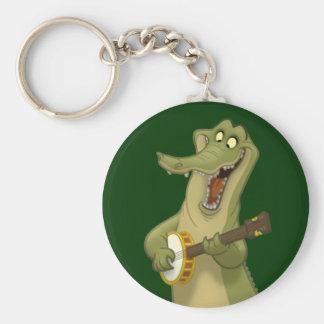 Porte - clé d'alligator de Banjo-Strummin' Porte-clé Rond