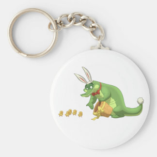 Porte - clé d'alligator de Pâques Porte-clé Rond