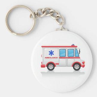 Porte - clé d'ambulance porte-clé rond