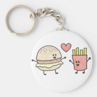 Porte - clé d'amis d'aliments de préparation porte-clé rond