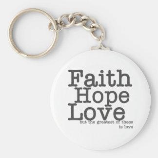 Porte - clé d'amour d'espoir de foi porte-clés
