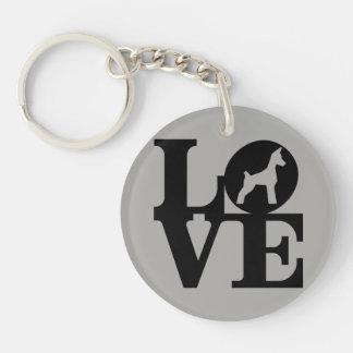Porte - clé d'amoureux des chiens porte-clé rond en acrylique double face