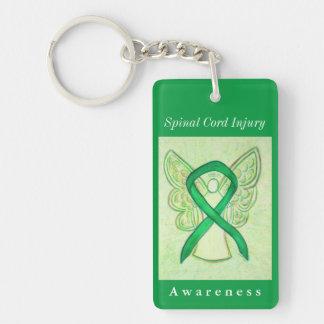 Porte - clé d'ange de ruban de conscience de porte-clefs