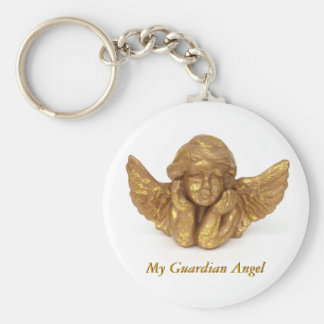 Porte - clé d'ange gardien porte-clé rond