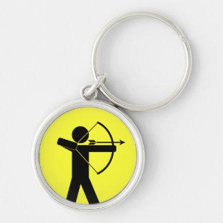 Porte - clé d'Archer - jaune Porte-clé Rond Argenté