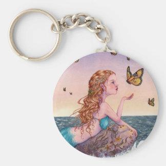 Porte - clé d'art de sirène - apportez-moi les porte-clé rond