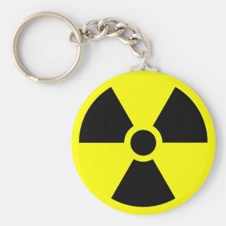 Porte - clé d'avertissement radioactif porte-clé rond