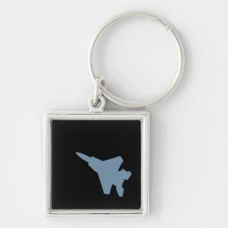 Porte - clé d'avion de chasse porte-clé carré argenté