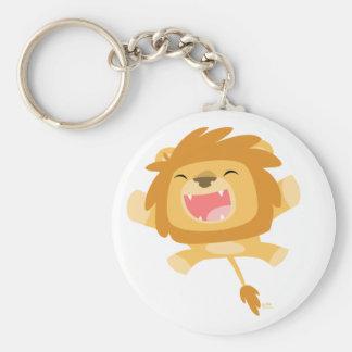 Porte - clé de attaque subit de lion de bande porte-clé rond