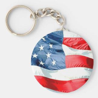 Porte - clé de bannière étoilée des Etats-Unis Porte-clés
