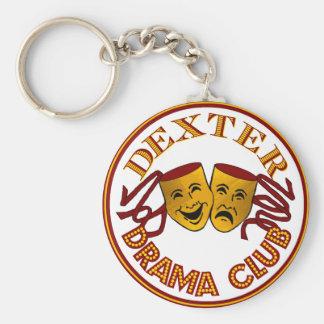 Porte - clé de base de logo de drame de CSAD Porte-clé Rond