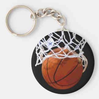 Porte - clé de basket-ball - art élégant moderne porte-clé rond