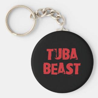 Porte - clé de bête de tuba porte-clé rond