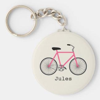 Porte - clé de bicyclette de roses indien porte-clé rond