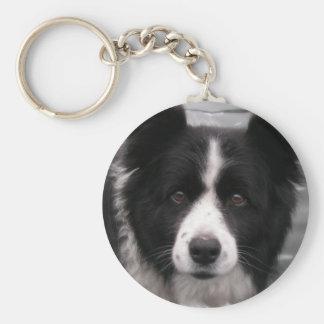 Porte - clé de border collie porte-clé rond