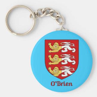 Porte - clé de bouclier de famille d'O'Brien Porte-clé Rond