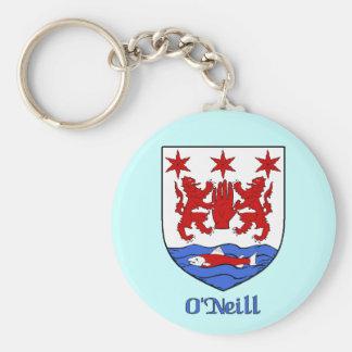 Porte - clé de bouclier de famille d'O'Neill Porte-clé Rond