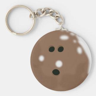 Porte - clé de boule de bowling de Brown Porte-clé Rond