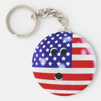 Porte - clé de boule de bowling des Etats-Unis Porte-clé Rond