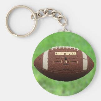 Porte - clé de boule de football américain ou de porte-clé rond