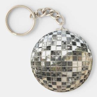 Porte - clé de boule de miroir porte-clé rond