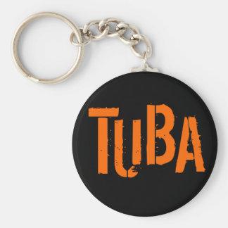 Porte - clé de bouton de TUBA Porte-clé Rond