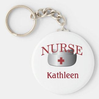 Porte - clé de bouton d'infirmière de nom porte-clé rond