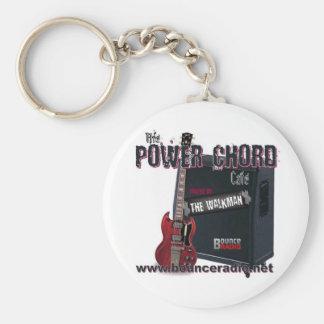 Porte - clé de café de corde de puissance porte-clé rond