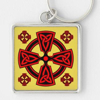 Porte - clé de carré de prime de Croix-Rouge de Porte-clé Carré Argenté