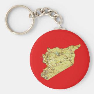 Porte - clé de carte de la Syrie Porte-clé Rond