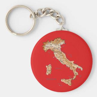Porte - clé de carte de l'Italie Porte-clé Rond