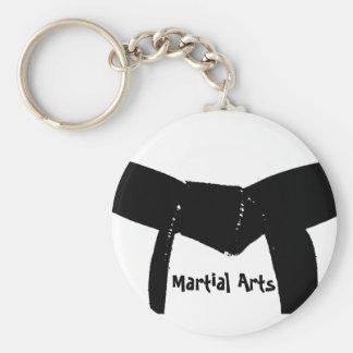 Porte - clé de ceinture noire d'arts martiaux porte-clé rond