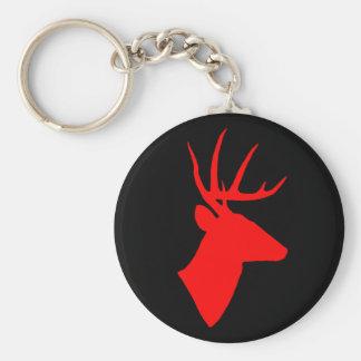 Porte - clé de cerfs communs rouges porte-clés